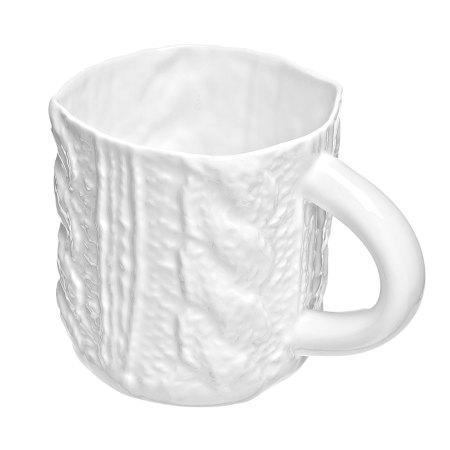 Кофейная вязаная чашечка